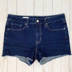 Gap Maddie Slim Cut Off Denim Jean Shorts Rinse